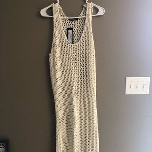 NASTY GAL midi crochet dress